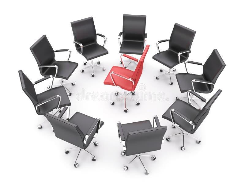 Cadeiras do escritório ilustração royalty free