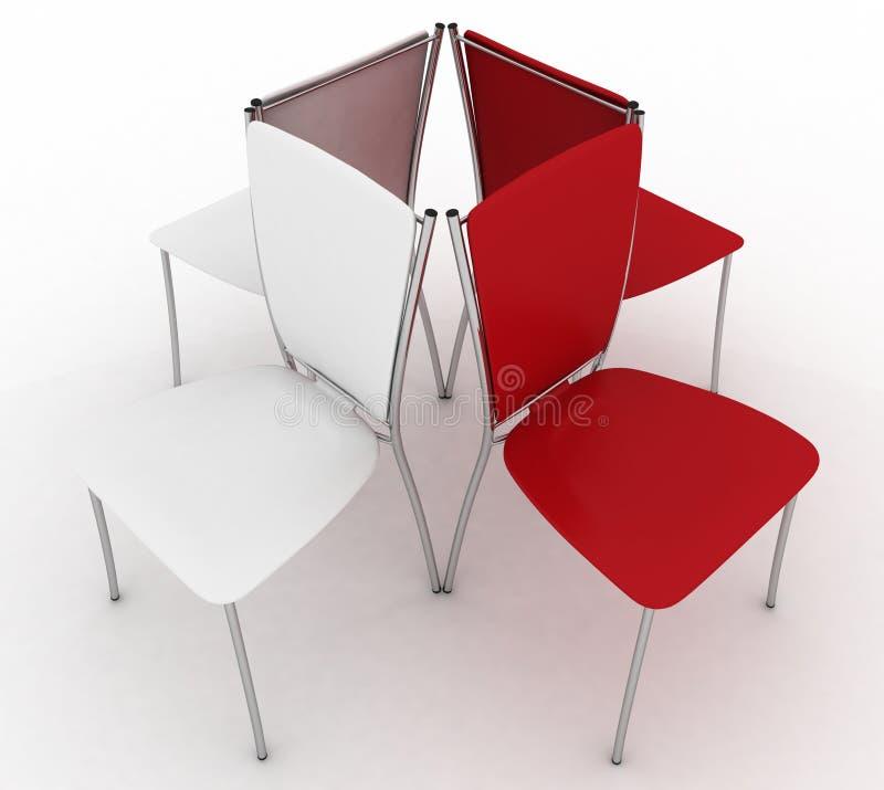 Cadeiras do escritório ilustração stock