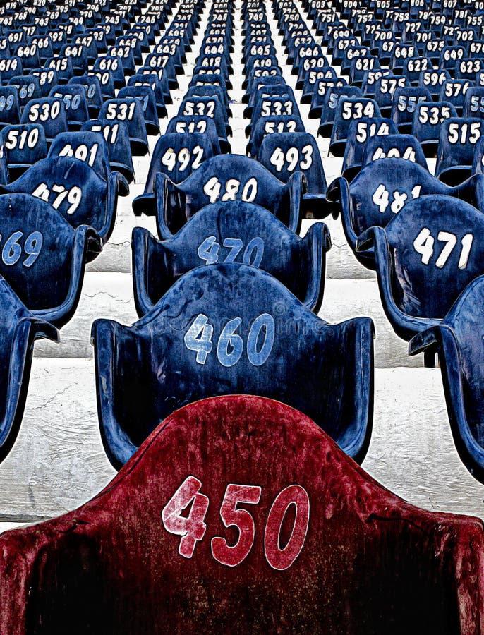 Cadeiras do estádio fotos de stock royalty free