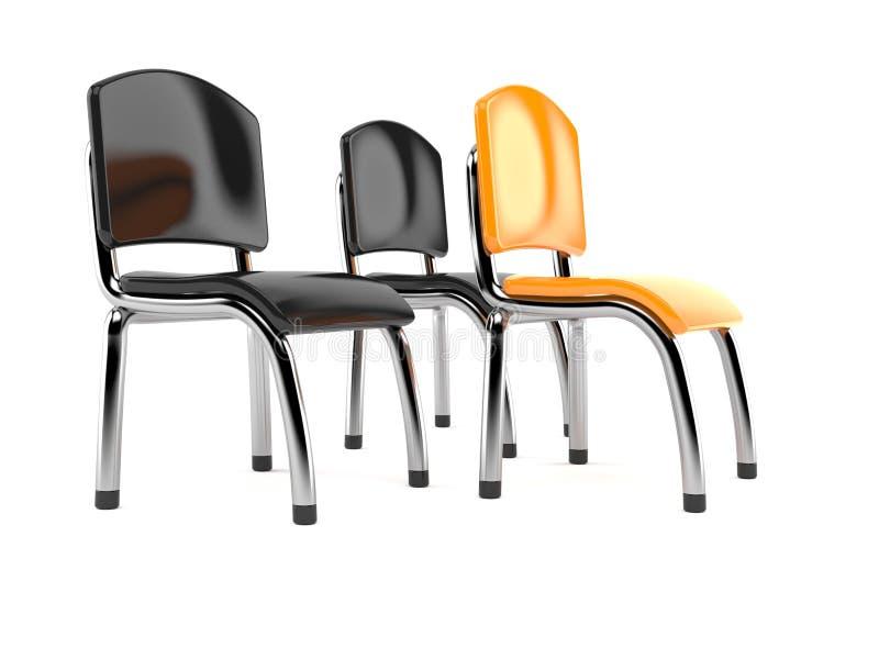 Cadeiras do negócio ilustração stock