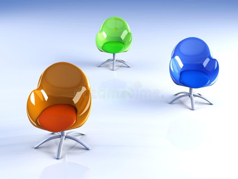 Cadeiras do projeto ilustração stock
