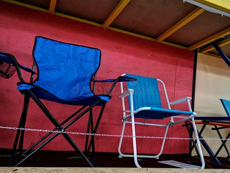 Cadeiras dobráveis imagem de stock royalty free