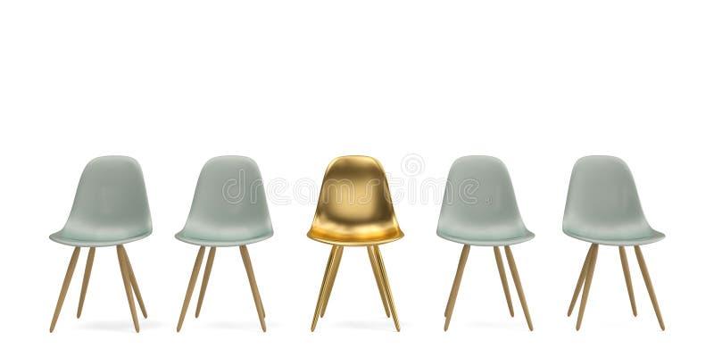 Cadeiras isoladas no fundo branco ilustra??o 3D ilustração do vetor