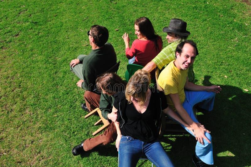 Cadeiras musicais imagem de stock royalty free