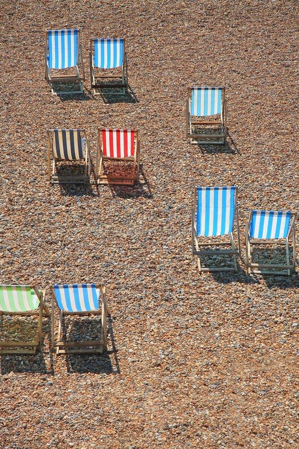 Cadeiras na Brigghton fotos de stock royalty free