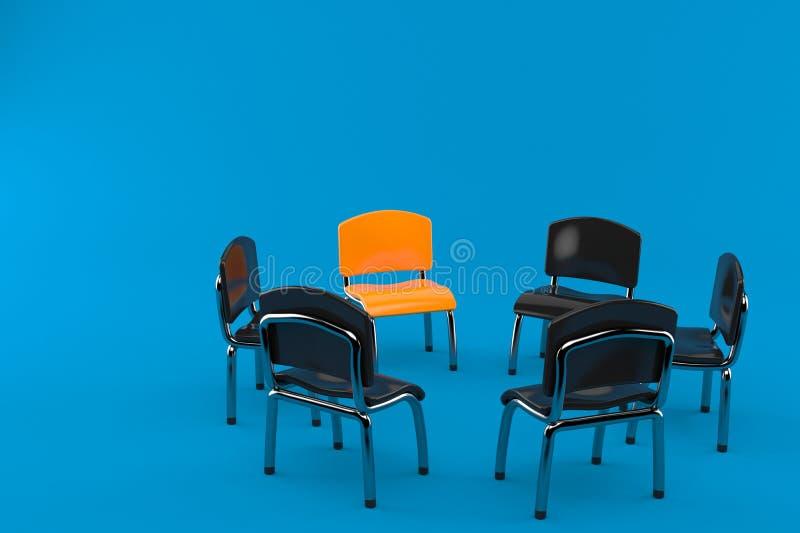 Cadeiras no círculo ilustração royalty free