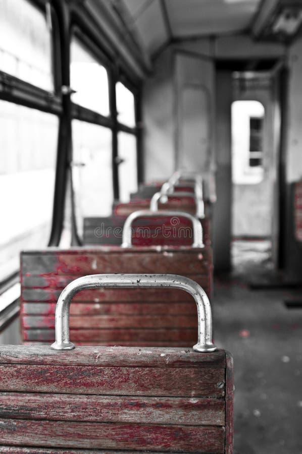 Cadeiras no trem do vintage imagens de stock royalty free