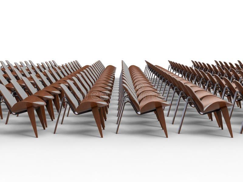 Cadeiras vazias no salão de convenção ilustração do vetor