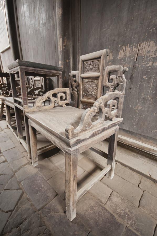 Cadeiras velhas foto de stock