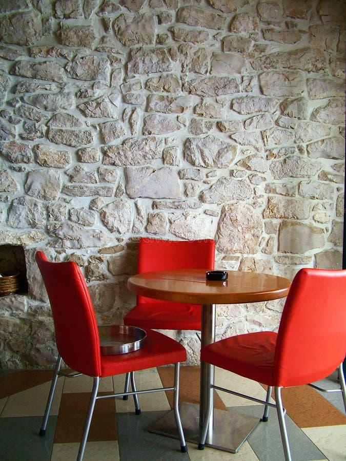 Cadeiras vermelhas fotografia de stock