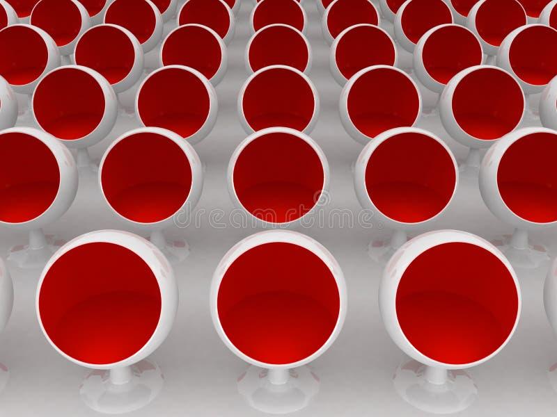 Cadeiras vermelhas ilustração do vetor