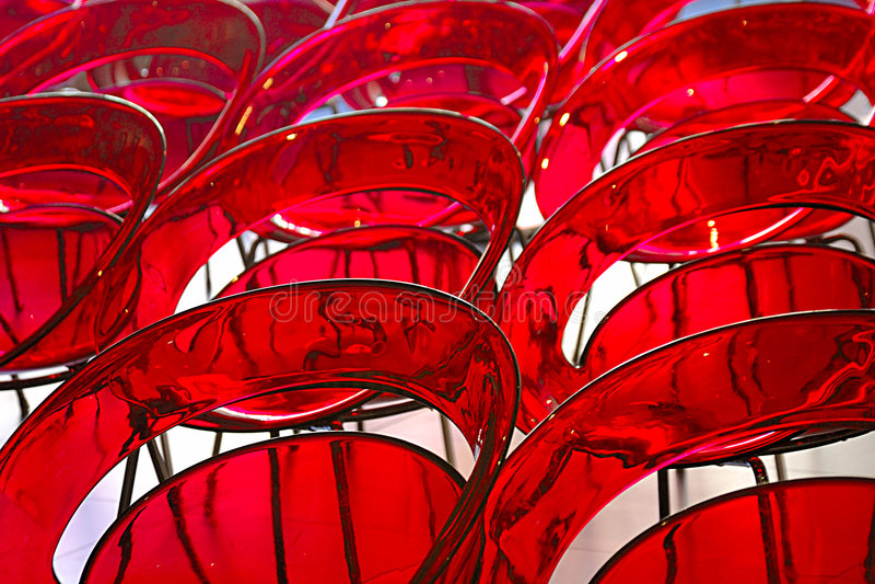 Cadeiras vermelhas fotografia de stock royalty free