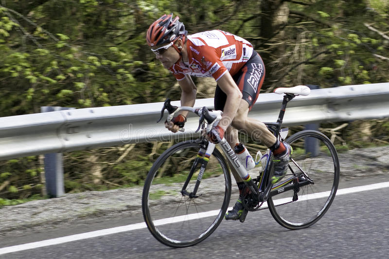 Cadel Evans auf Autogiro d'Italia 2010 lizenzfreie stockfotografie