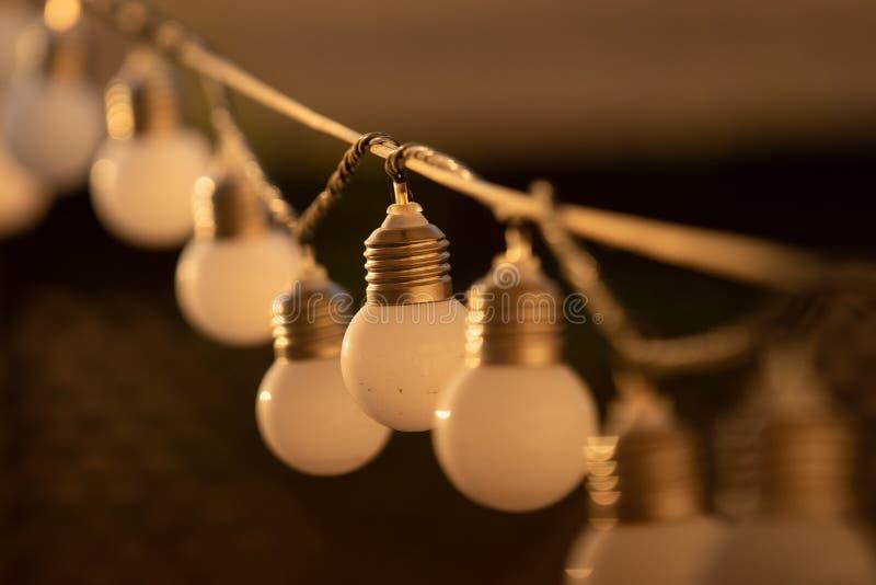 Cadena de bulbos del LED foto de archivo libre de regalías