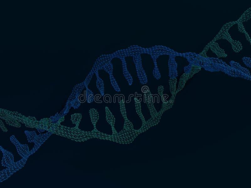Cadena de la DNA Fondo científico abstracto representación 3d libre illustration