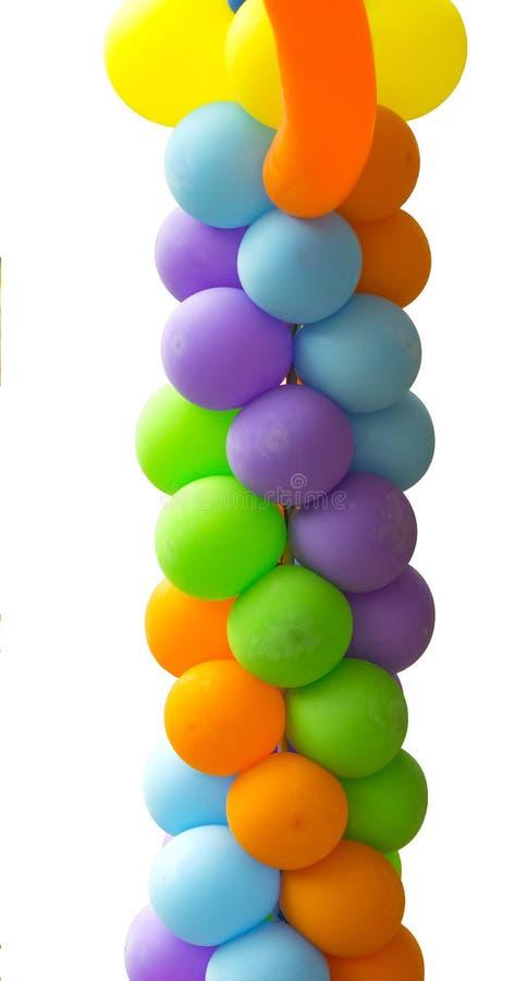 Cadena de los globos fotografía de archivo libre de regalías