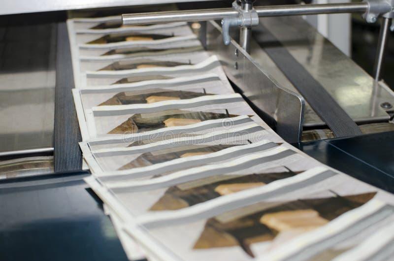 Cadena de producción compensada de la impresión de la revista fotografía de archivo libre de regalías