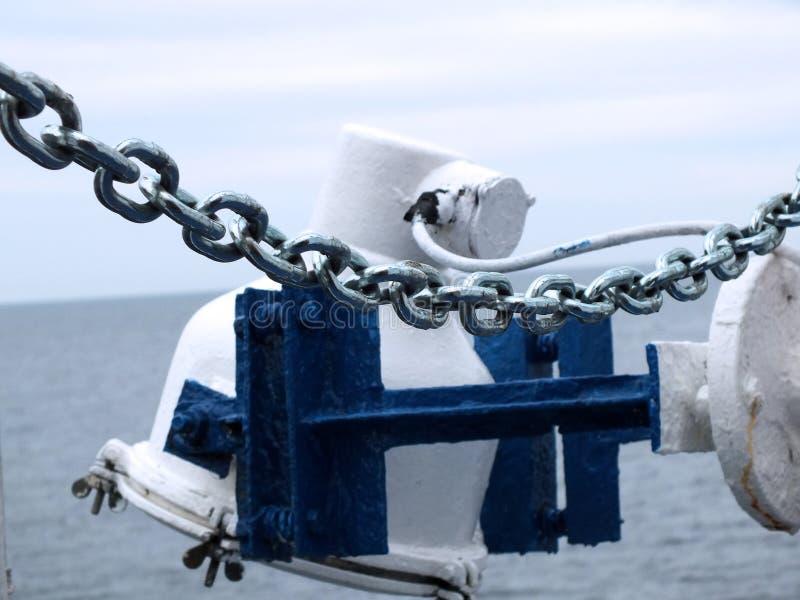 Cadena del barco fotografía de archivo libre de regalías