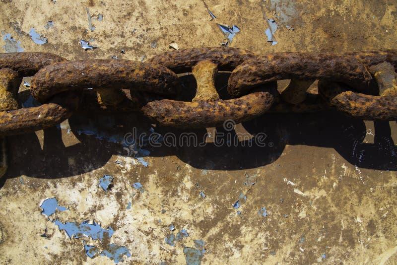 Cadena oxidada stock de ilustración