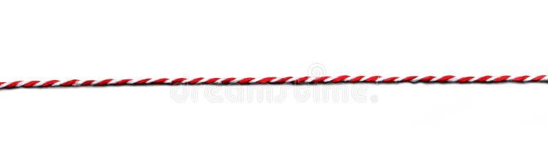 Cadena roja y blanca de Navidad aislada en blanco imagen de archivo libre de regalías