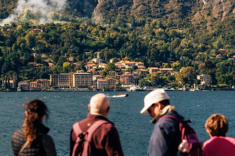Cadenabbia sur la côte du lac Como, Italie photo stock