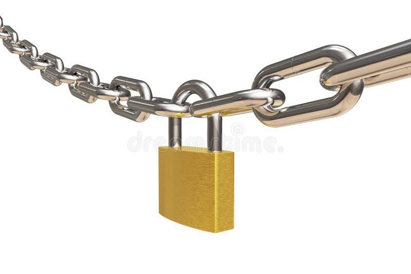 cadenas à chaînes illustration libre de droits