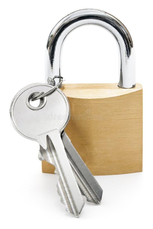 Cadenas avec des clés image stock