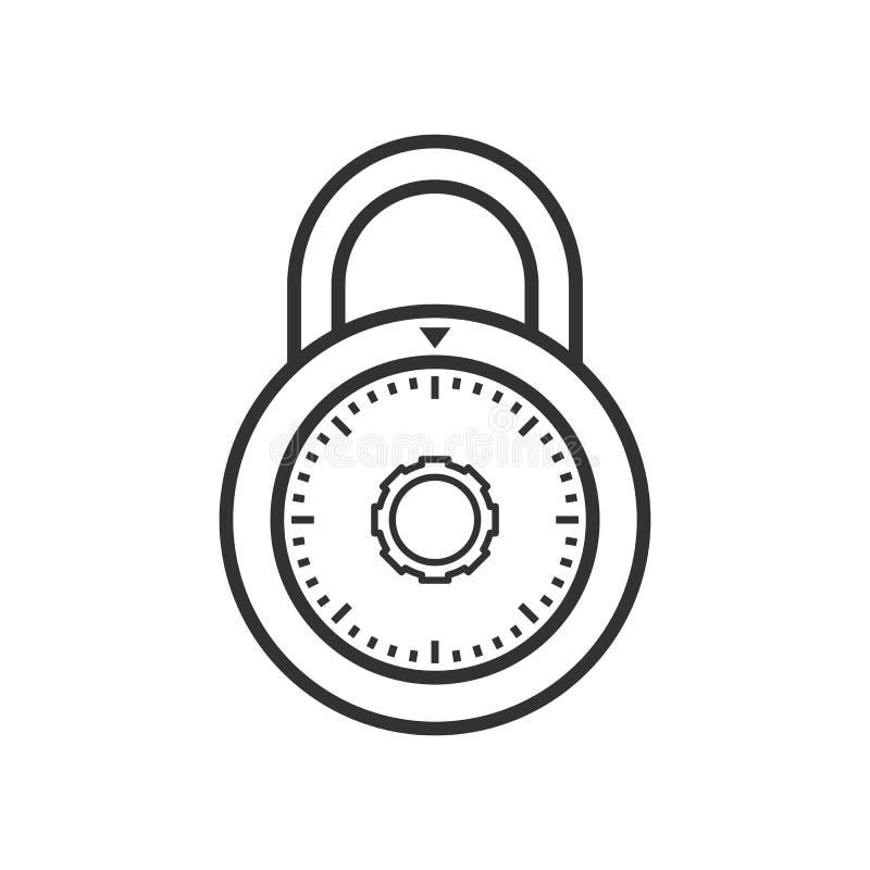 Cadenas avec l'icône plate d'ensemble de combinaison illustration libre de droits