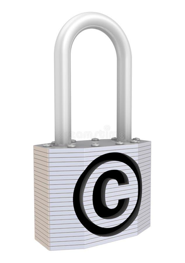 Cadenas avec le symbole de la protection copyright - Symbole de protection ...