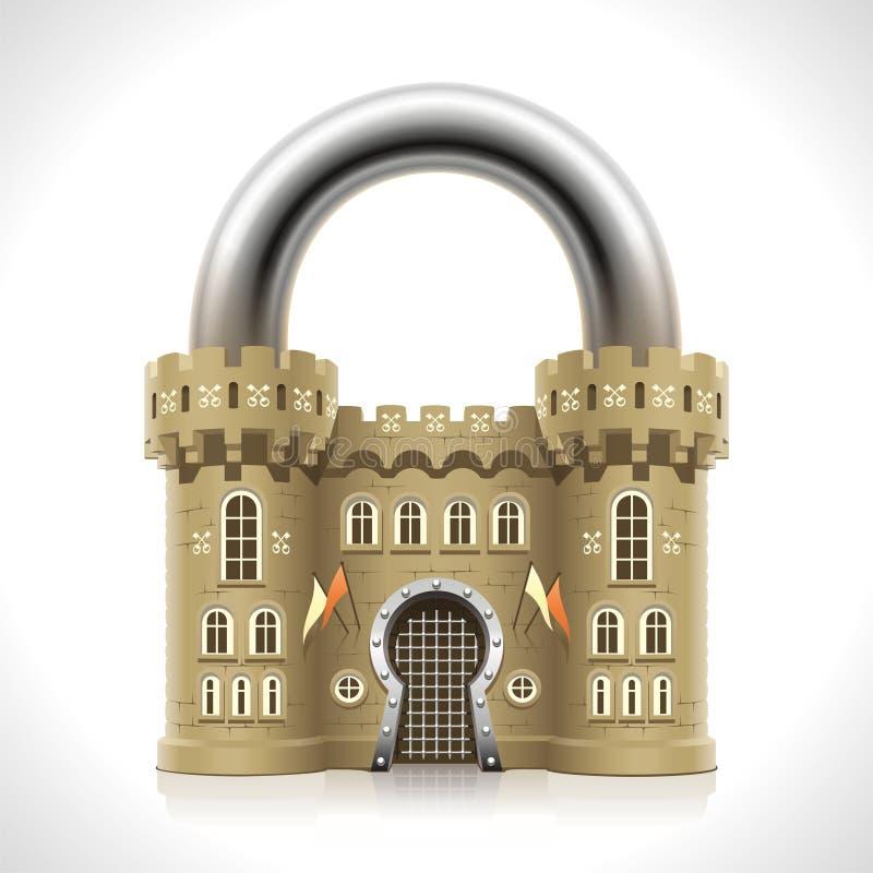 Cadenas de château illustration de vecteur