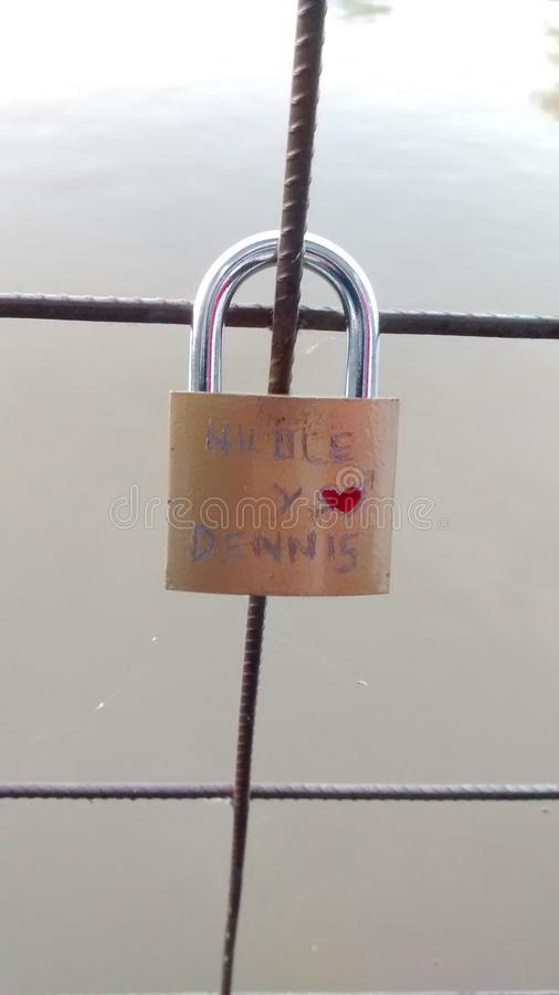 Cadenas de l'amour image libre de droits