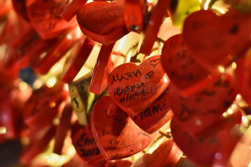 Cadenas de l'amour photographie stock