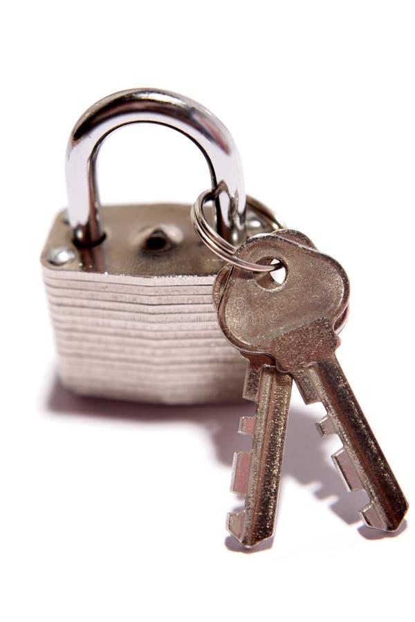 Cadenas et clés photographie stock libre de droits