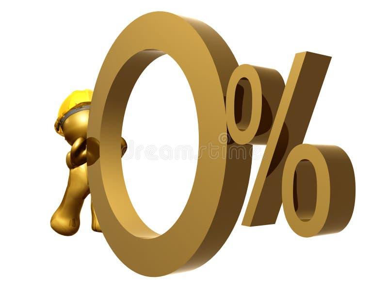cadence zéro de pour cent d'intérêt illustration de vecteur