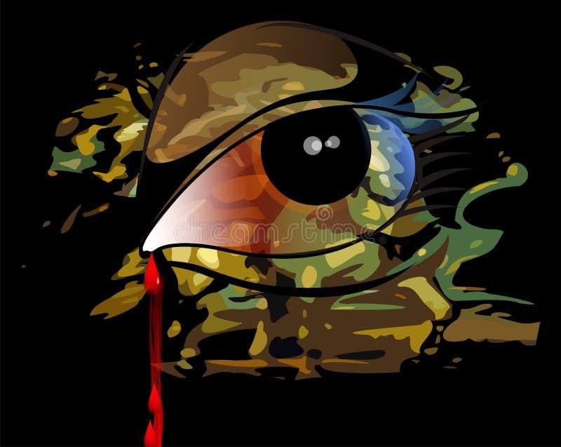Cadendo dell'anima dall'occhio illustrazione vettoriale