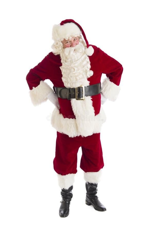 Caderas de Santa Claus Standing With Hands On imagen de archivo libre de regalías