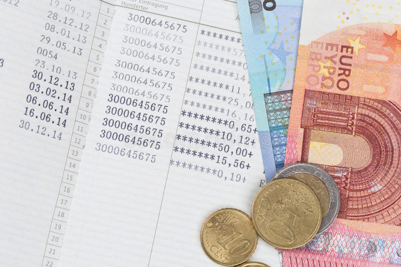 Caderneta bancária do banco de economia imagem de stock