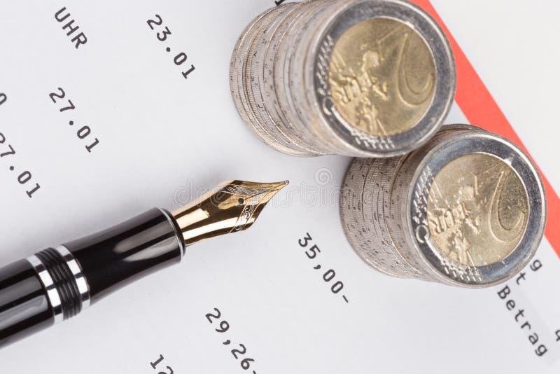 Caderneta bancária do banco de economia foto de stock