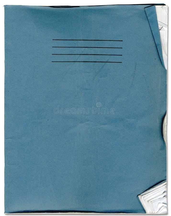 Caderno áspero da velha escola fotografia de stock