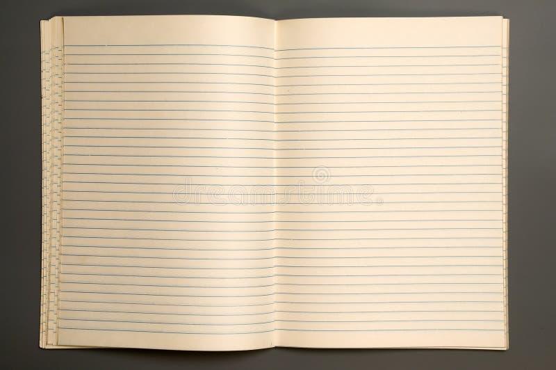 Caderno fotografia de stock