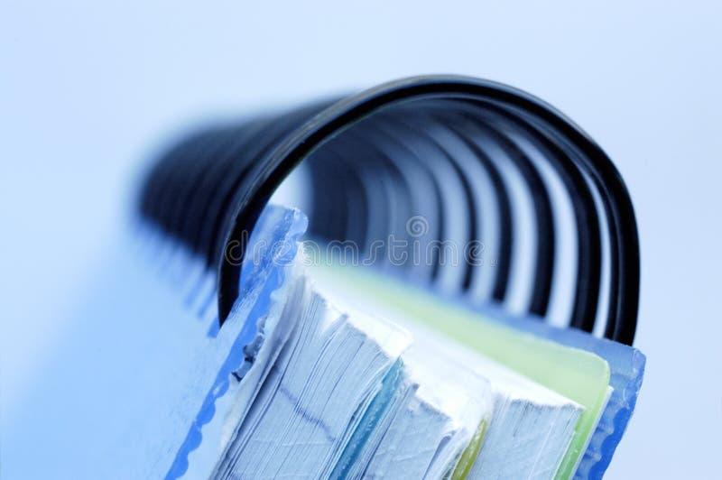 Caderno. imagem de stock
