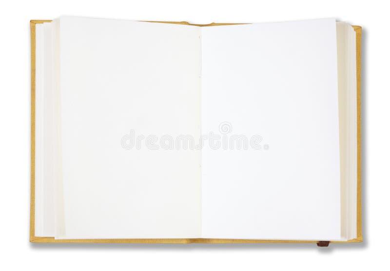 Caderno amarelo imagem de stock