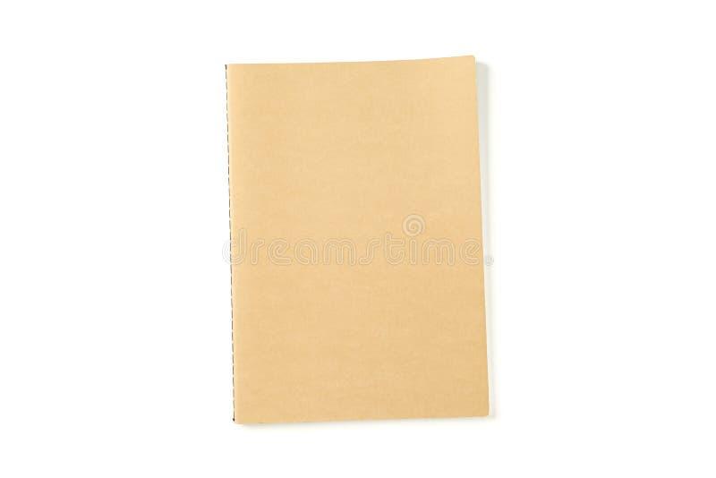 Caderno com a estrutura de papel isolada fotografia de stock royalty free