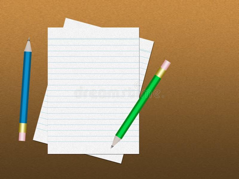 Caderno com lápis fotografia de stock royalty free