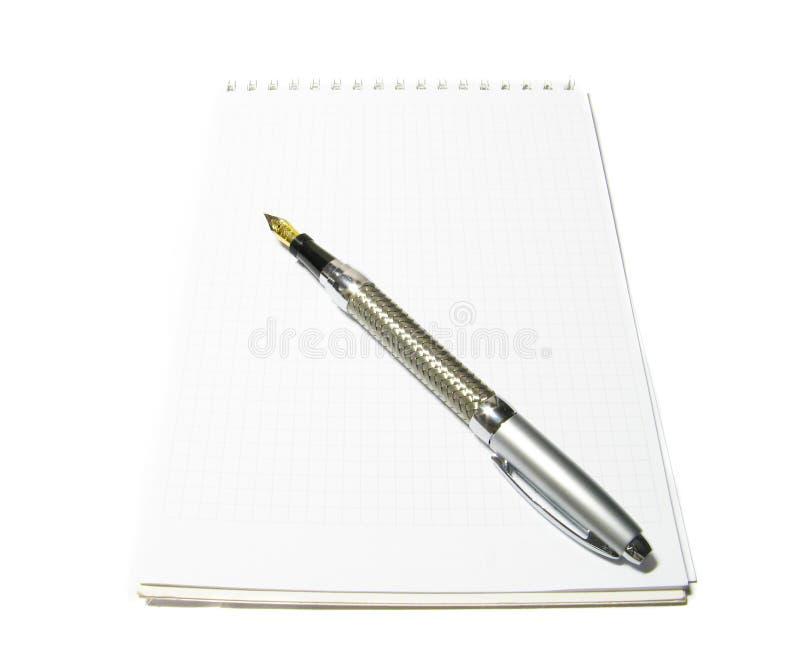Caderno com lápis foto de stock