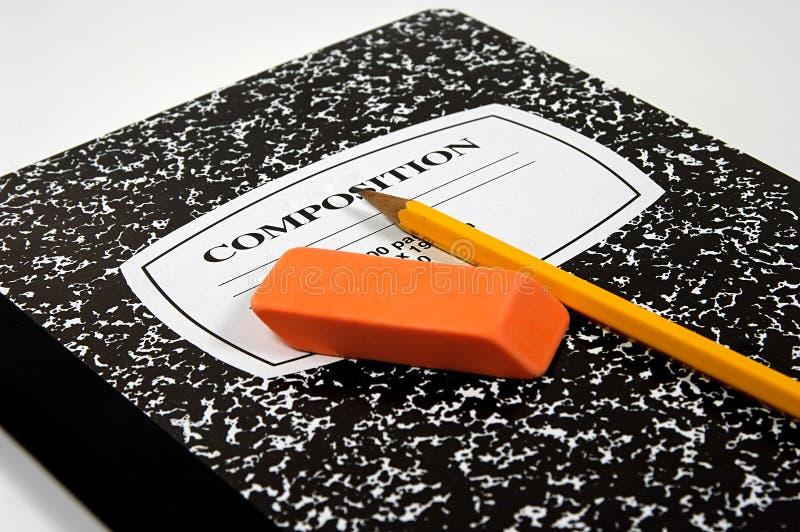 Caderno da composição fotos de stock royalty free