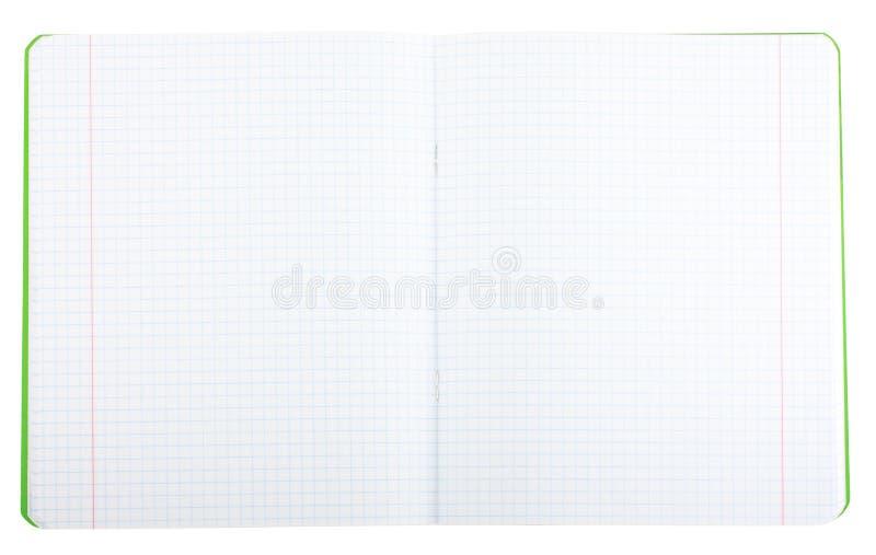 Caderno da escola fotografia de stock
