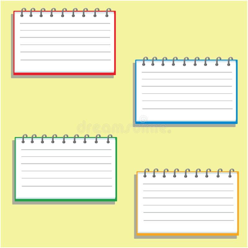 Caderno de bolso em quatro dimensões ilustração do vetor