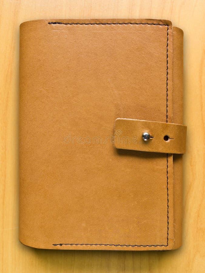 Caderno de couro do caso imagens de stock royalty free
