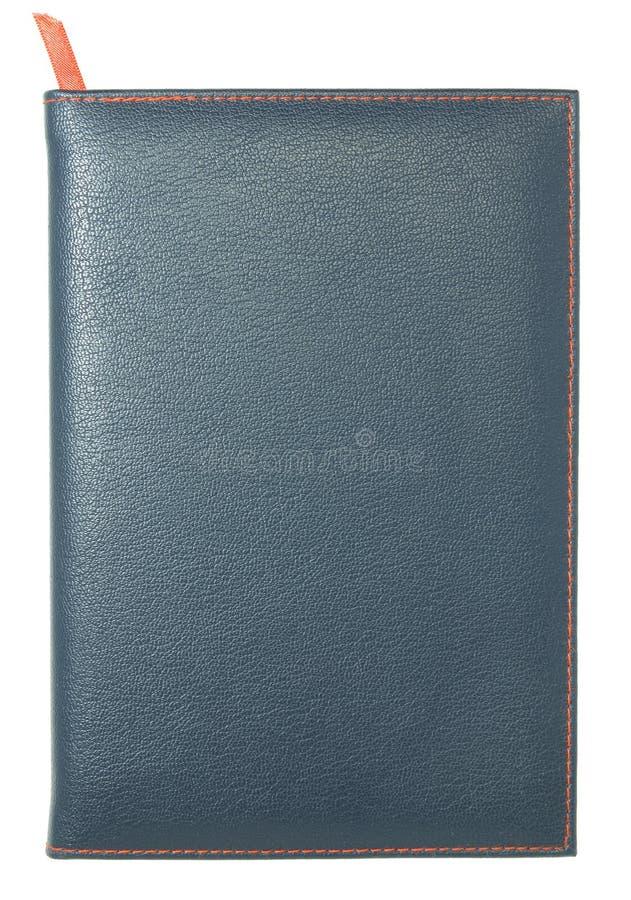 Caderno de couro isolado imagem de stock
